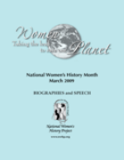 Women Taking the Lead to Save the Planet  Speech and Biography Booklet