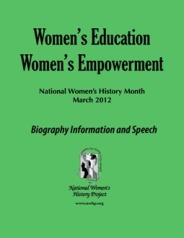 Women's Education Women's Empowerment Bio Booklet/Speech