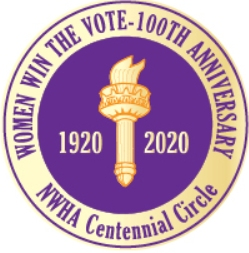 NWHA Centennial  Circle lapel pin THUMBNAIL