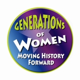 Generations of Women Moving History Forward Logo