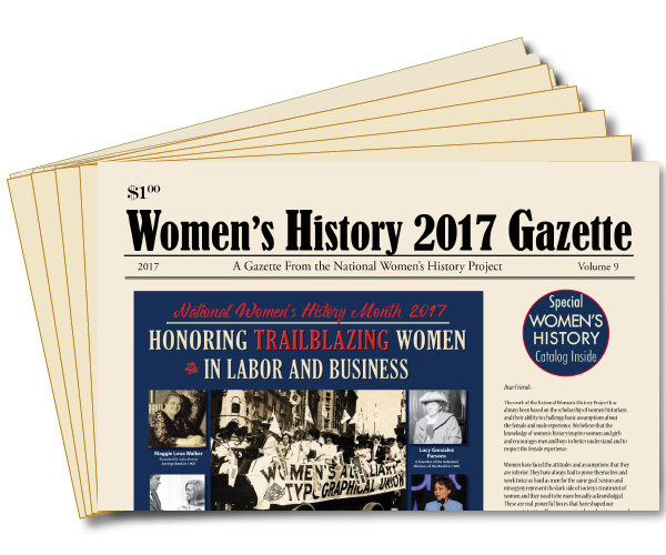 One Free Copy of 2017 Women's History Gazette