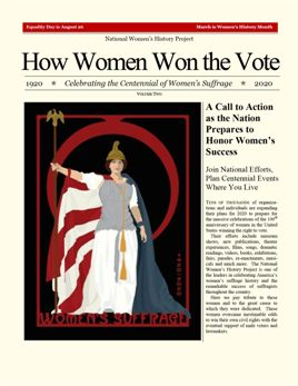 "How Women Won the Vote Gazette, Vol. 2 AD- 1/4 Page (5""wide  x 6"" high)"