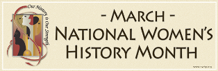 National Women's History Month Paper Cream Banner