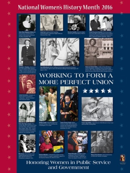 Working to Form a More Perfect Union: Honoring Women in Public Service and Government. LARGE