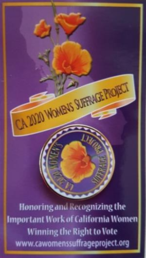 CA 2020 Women Suffrage Lapel Pin LARGE