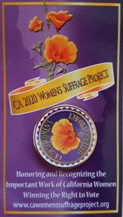CA 2020 Women Suffrage Lapel Pin THUMBNAIL
