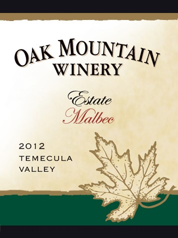 2012 Oak Mountain Malbec THUMBNAIL