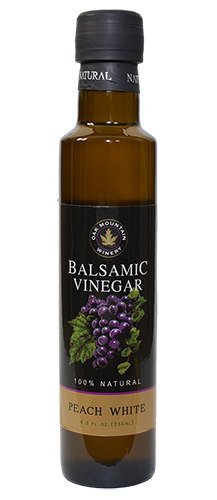 Oak Mountain Peach White Balsamic Vinegar THUMBNAIL