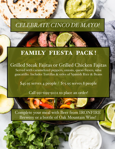 Cinco de Mayo Family Fiesta for 4 MAIN