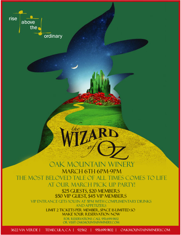 Wizard of Oz March Pickup Party-Guest Ticket MAIN