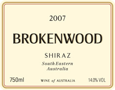 Brokenwood Area Blend Shiraz 2007 MAIN