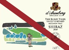 d'Arenberg The Blind Tiger Single Vineyard Shiraz 2010 MAIN