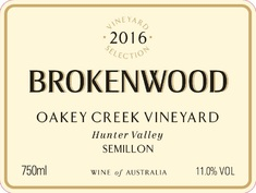 Brokenwood Oakey Creek Semillon 2016 MAIN