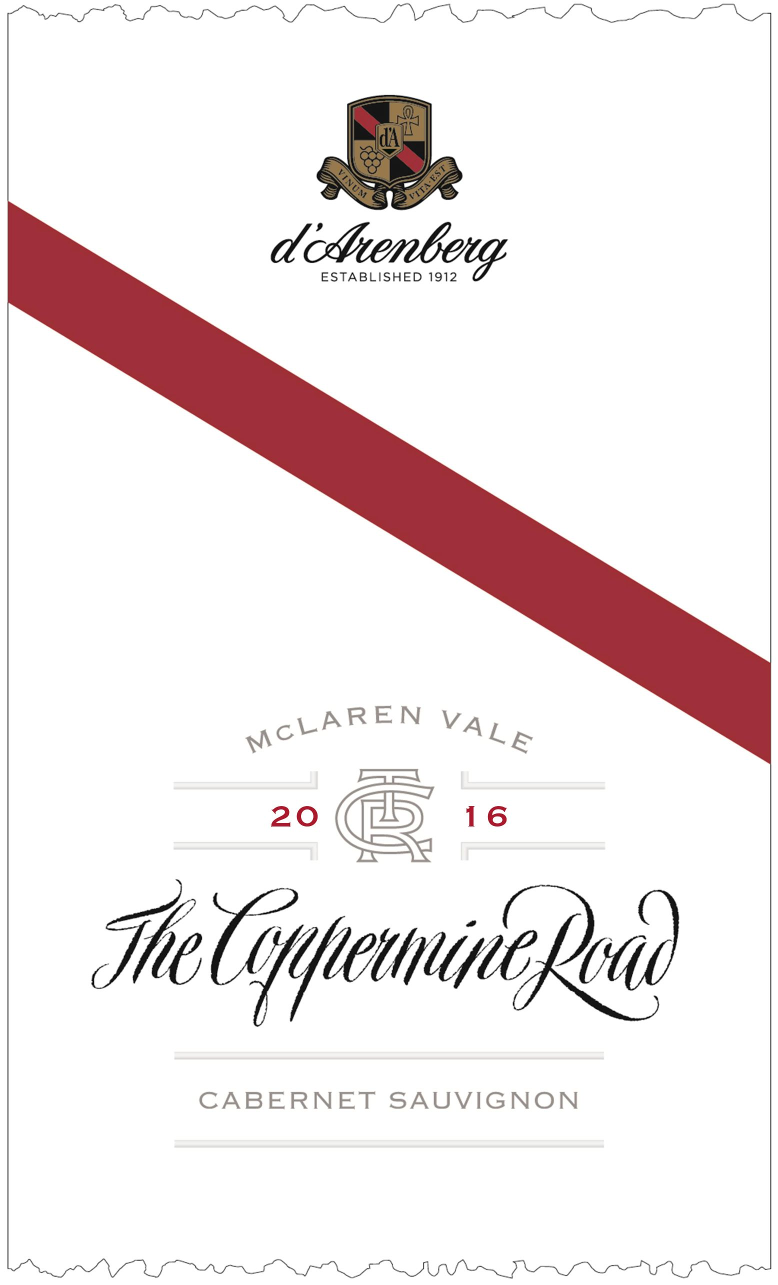 d'Arenberg The Coppermine Road Cabernet Sauvignon 2016 THUMBNAIL