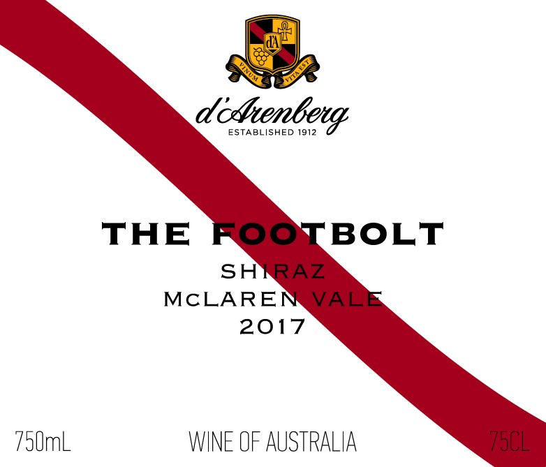 d'Arenberg The Footbolt Shiraz 2017 THUMBNAIL