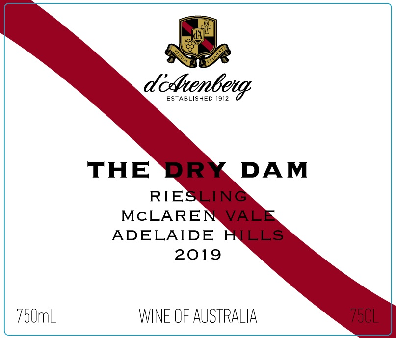 d'Arenberg The Dry Dam Riesling 2018 THUMBNAIL