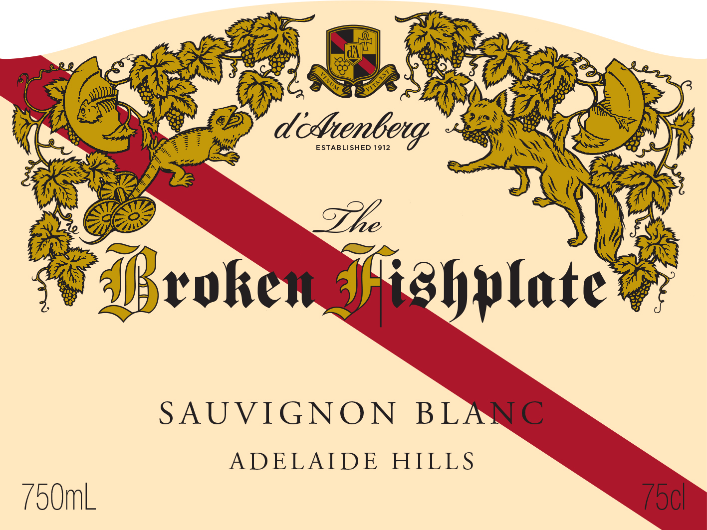d'Arenberg The Broken Fishplate Sauvignon Blanc 2018 MAIN