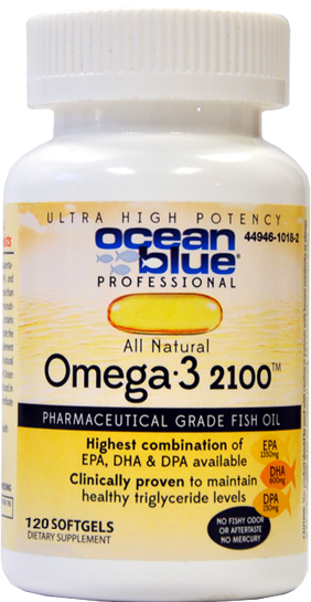 120ct Ocean blue® Professional Omega-3 2100™ Softgels Mini-Thumbnail