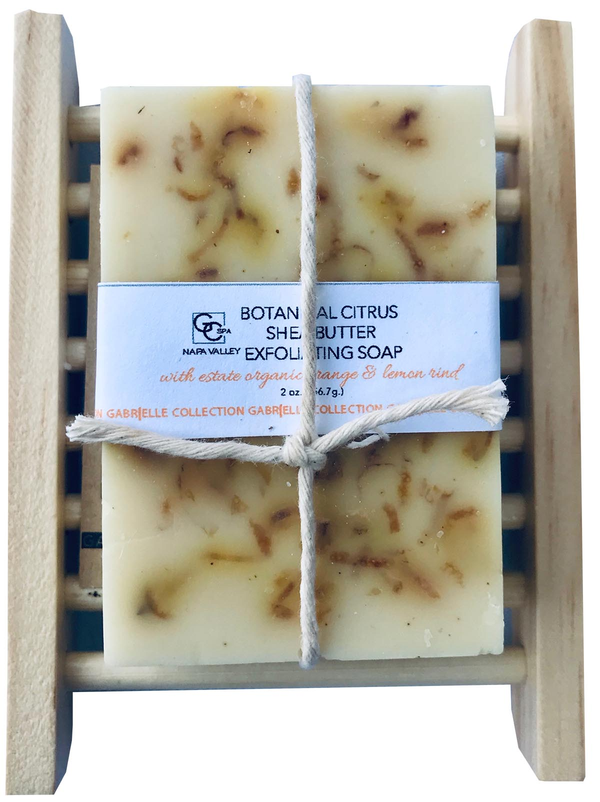 Botanical Exfoliating Soap: Estate Citrus 3 oz with Soap Holder VCC THUMBNAIL