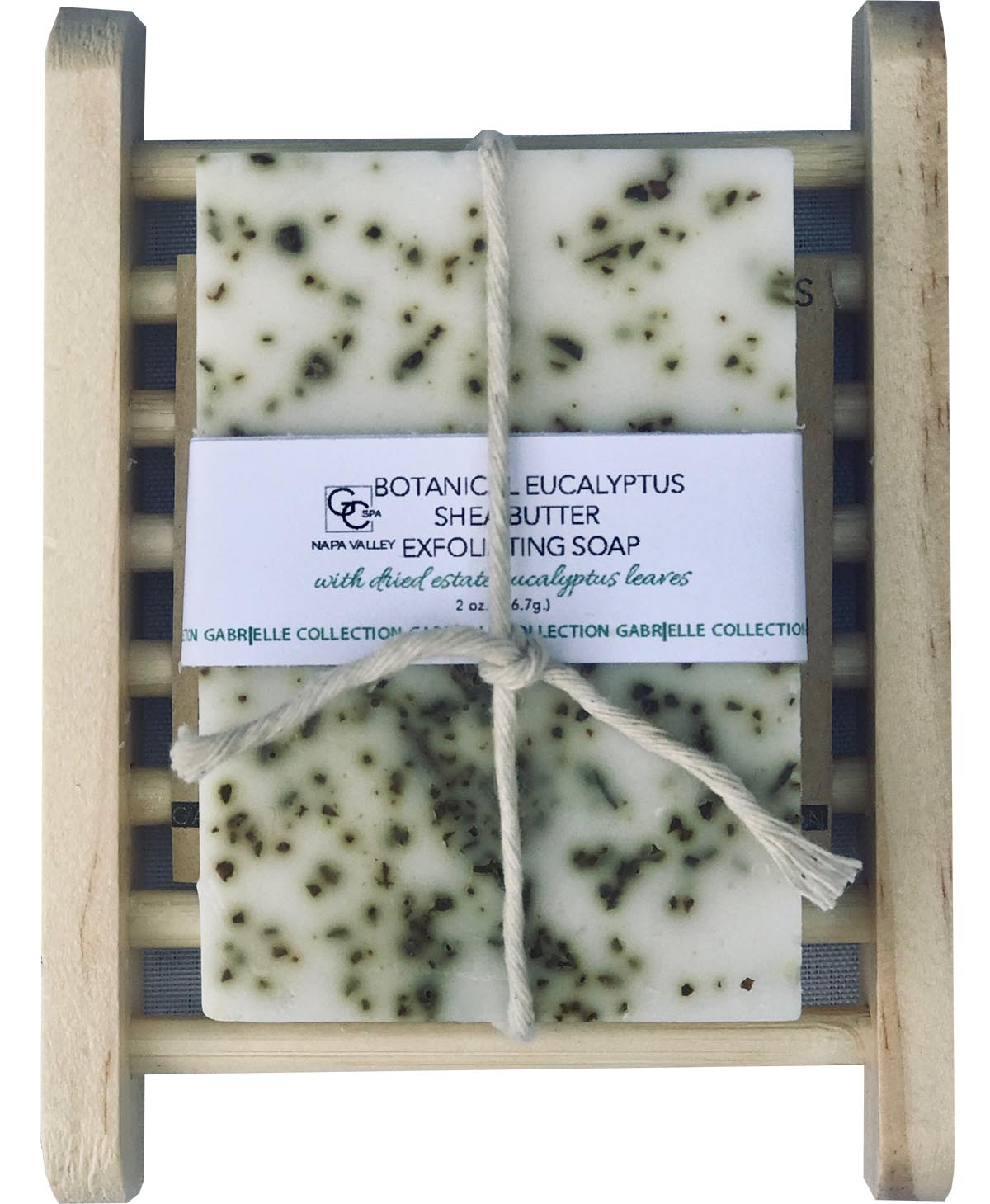 Botanical Exfoliating Soap: Estate Eucalyptus with Soap Holder VCC THUMBNAIL