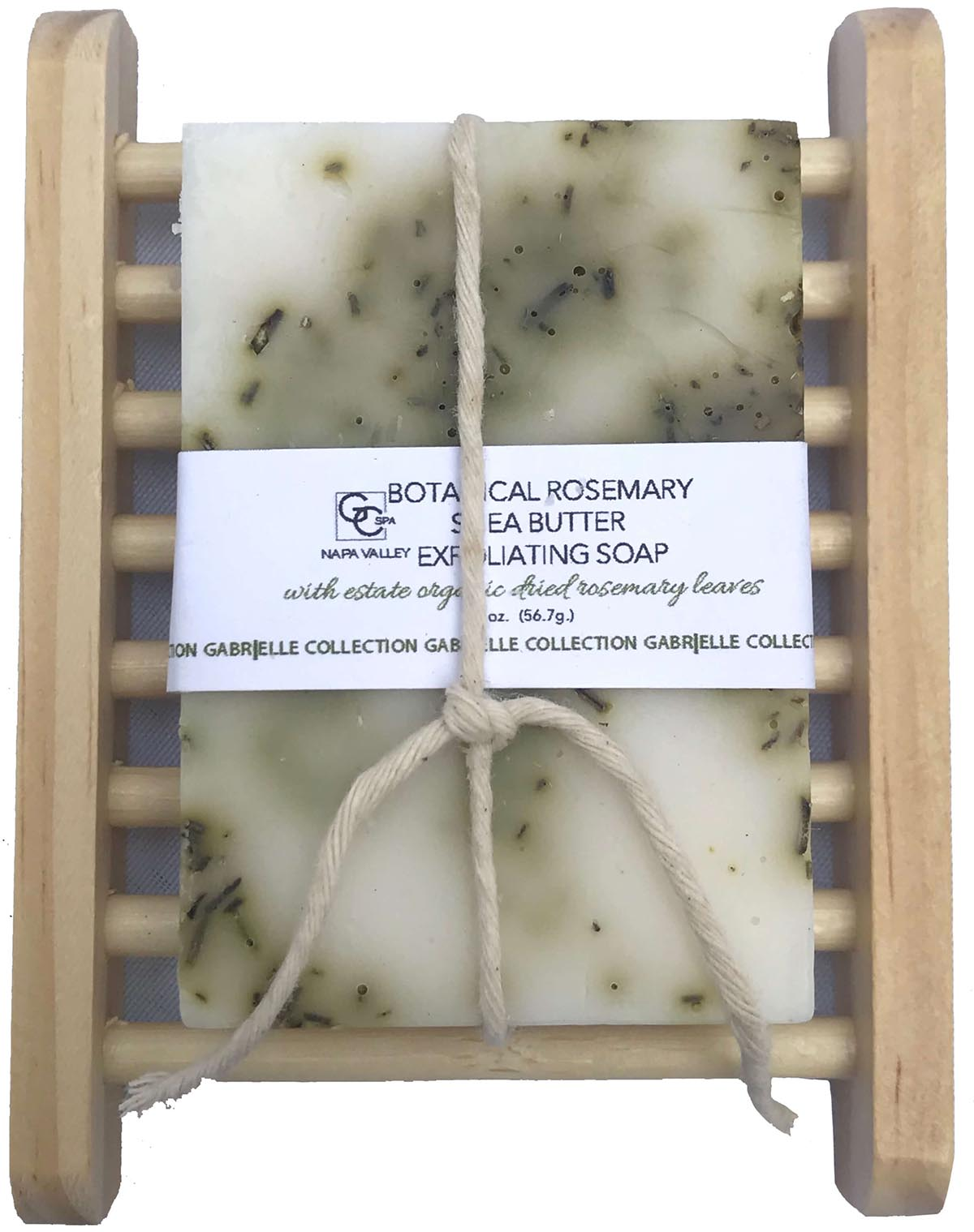 Botanical Exfoliating Soap Estate Rosemary with Soap Holder THUMBNAIL