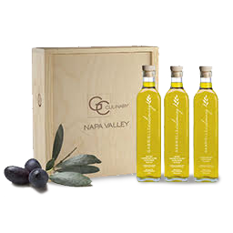 Gourmet Olive Oil Trio in Wood Gift Box THUMBNAIL