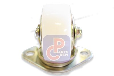 "CARGO DOLLY CASTER, 4.01"" NYLON WHITE/GOLD (HQ04N) MAIN"