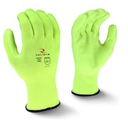13 Ga Hi-Viz Yellow Polyester Shell • Yellow PU Dip THUMBNAIL