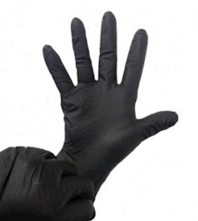 BLACK MAX-GRIP RIDGED TEXTURE NITRILE GLOVES  (Z4999) MAIN