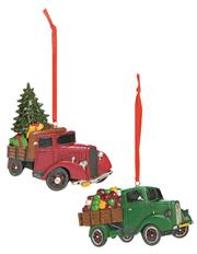 VINTAGE CHRISTMAS TRUCK ORNAMENT THUMBNAIL