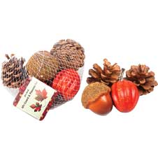 Pinecones and Gourds Decor THUMBNAIL