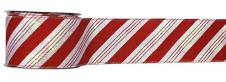 #40 Wired Ribbon Red and White Candy Cane Stripe THUMBNAIL