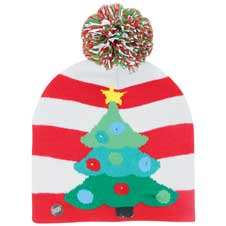 Christmas Tree Light Up Knitted Hat THUMBNAIL