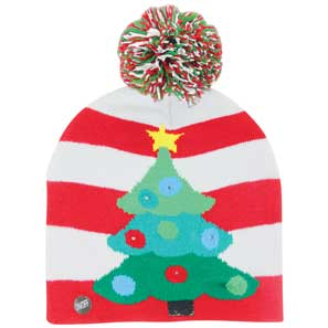 Christmas Tree Light Up Knitted Hat MAIN