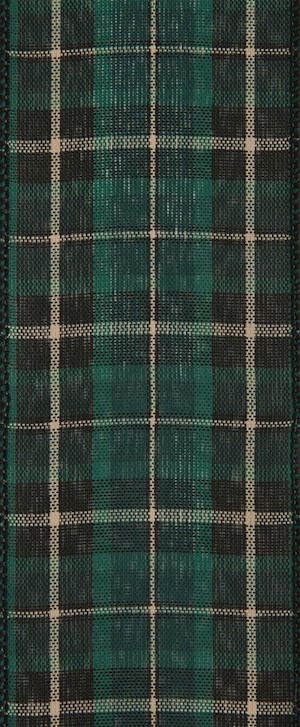 Green and Black Plaid Wired Ribbon MAIN