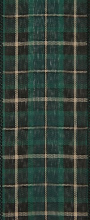 Green and Black Plaid Wired Ribbon THUMBNAIL