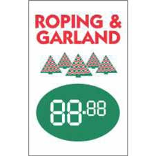 "Custom  Price Signs 14""x22"" Roping and Garland THUMBNAIL"