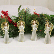 Gold Angel Ornament THUMBNAIL