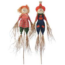 60 inch Scarecrow Couple THUMBNAIL