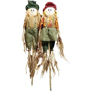 "60"" Scarecrow Couple MAIN"