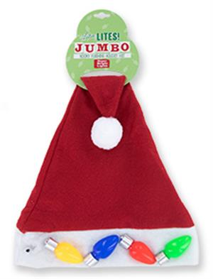 Jumbo Flashing Santa Hat MAIN