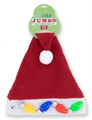 Jumbo Flashing Santa Hat THUMBNAIL