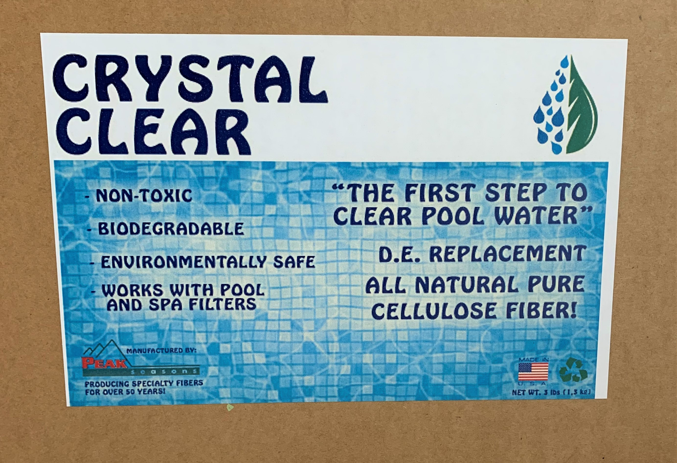 Crystal Clear Pool Fiber SWATCH
