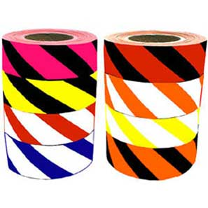 Superior Flagging Tape Striped Orange/White_MAIN