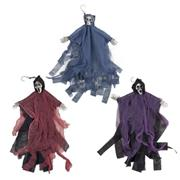 Hooded Skeleton Hanging Decor THUMBNAIL