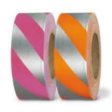Superior Flagging Tape Striped GLO Silver/Pink THUMBNAIL