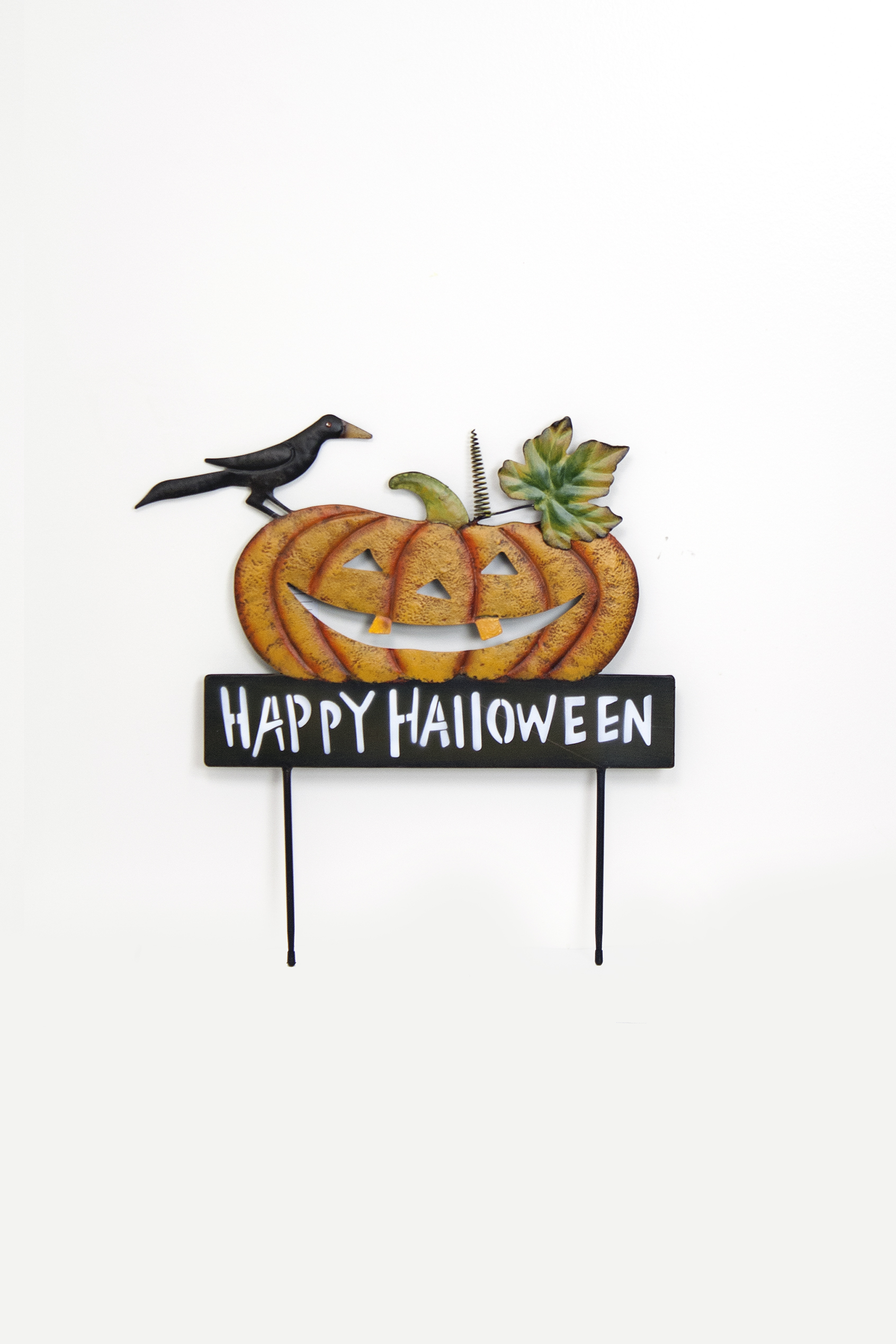 "18"" Happy Halloween Pumpkin Yard Stake THUMBNAIL"