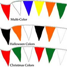 Pennants Christmas Colors 120 foot THUMBNAIL