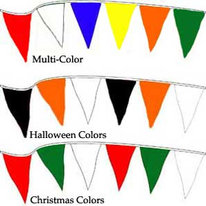 Pennants Christmas Colors 120 foot MAIN