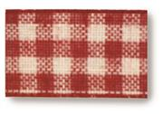 Red and White Gingham Check #9 Ribbon THUMBNAIL